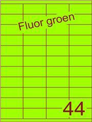 Etiket fluor groen 52,5x25,4mm (44) ds200vel A4