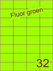 Etiket fluor groen 52,5x37,1mm (32) ds200vel A4