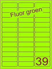 Etiket fluor groen 63,5x21,2mm (39) ds200vel A4
