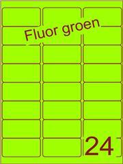 Etiket fluor groen 63,5x33,9mm (24) ds100vel A4