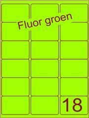 Etiket fluor groen 63,5x46,6mm (18) ds100vel A4