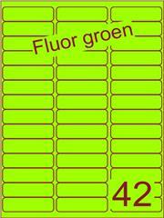 Etiket fluor groen 65x20mm (42) ds200vel A4