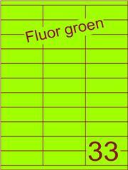 Etiket fluor groen 70x25,4mm (33) ds100vel A4