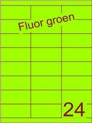 Etiket fluor groen 70x33,9mm (24) ds200vel A4
