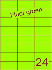 Etiket fluor groen 70x37,1mm (24) ds100vel A4