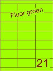 Etiket fluor groen 70x38,1mm (21) ds200vel A4
