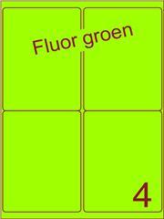 Etiket fluor groen 99,1x139mm (4) ds200vel A4