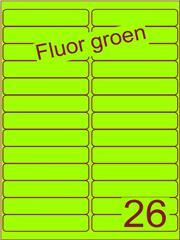 Etiket fluor groen 99,1x21,2mm (26) ds200vel A4