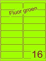Etiket fluor groen 99,1x33,9mm (16) ds200vel A4