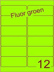 Etiket fluor groen 99,1x42,3mm (12) ds200vel A4