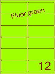 Etiket fluor groen 99,1x46,6mm (12) ds100vel A4