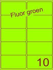 Etiket fluor groen 99,1x56,8mm (10) ds100vel A4
