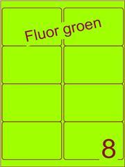 Etiket fluor groen 99,1x67,7mm (8) ds100vel A4