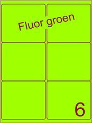 Etiket fluor groen 99,1x93,2mm (6) ds100vel A4