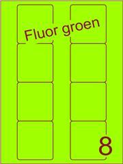 Etiket fluor groen Disklabels 70x72 (8) ds200vel A4