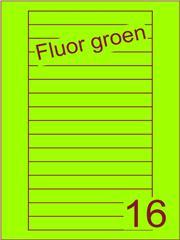 Etiket fluor groenVideolabels 145x17 (16) ds200vel A4