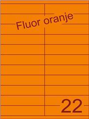 Etiket fluor oranje 105x25,4mm (22) ds200vel A4