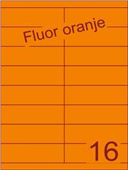 Etiket fluor oranje 105x33,9mm (16) ds100vel A4