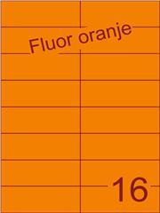 Etiket fluor oranje 105x37,1mm (16) ds100vel A4