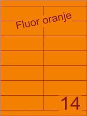 Etiket fluor oranje 105x38,1mm (14) ds100vel A4