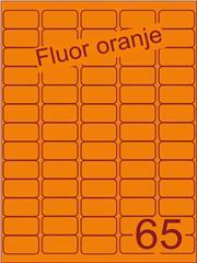 Etiket fluor oranje 38,1x21,2mm (65) ds100vel A4