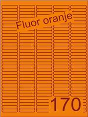 Etiket fluor oranje 38,1x8mm (170) ds200vel A4