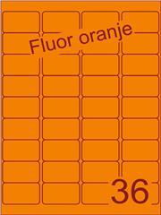 Etiket fluor oranje 48,3x29,7mm (36) ds200vel A4