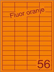 Etiket fluor oranje 48x20mm (56) ds200vel A4