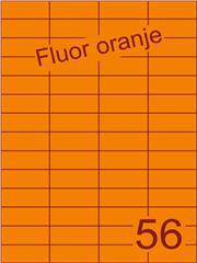 Etiket fluor oranje 52,5x21,2mm (56) ds100vel A4
