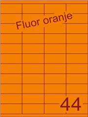 Etiket fluor oranje 52,5x25,4mm (44) ds200vel A4