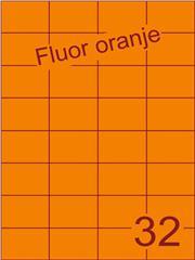 Etiket fluor oranje 52,5x37,1mm (32) ds200vel A4