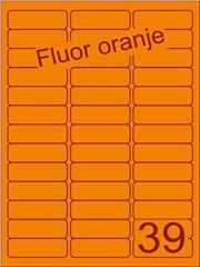 Etiket fluor oranje 63,5x21,2mm (39) ds200vel A4