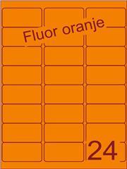 Etiket fluor oranje 63,5x33,9mm (24) ds100vel A4