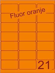 Etiket fluor oranje 63,5x38,1mm (21) ds100vel A4
