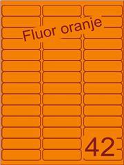 Etiket fluor oranje 65x20mm (42) ds200vel A4