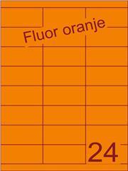 Etiket fluor oranje 70x33,9mm (24) ds200vel A4