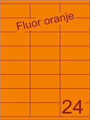 Etiket fluor oranje 70x35mm (24) ds200vel A4 (SC66000350)