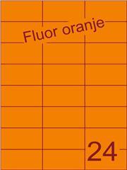 Etiket fluor oranje 70x37,1mm (24) ds100vel A4