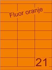 Etiket fluor oranje 70x38,1mm (21) ds200vel A4