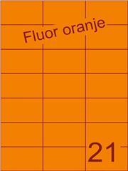 Etiket fluor oranje 70x42,4mm (21) ds100vel A4
