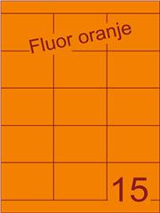 Etiket fluor oranje 70x52mm (15) ds200vel A4