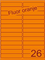 Etiket fluor oranje 99,1x21,2mm (26) ds200vel A4