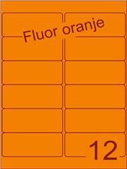 Etiket fluor oranje 99,1x42,3mm (12) ds200vel A4