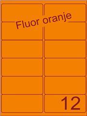Etiket fluor oranje 99,1x46,6mm (12) ds100vel A4