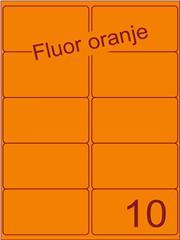 Etiket fluor oranje 99,1x56,8mm (10) ds100vel A4
