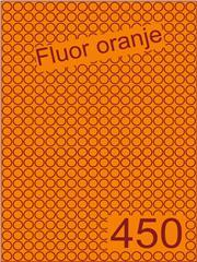 Etiket fluor oranje rond ø9mm (450) ds200vel A4