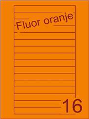Etiket fluor oranje Videolabels 145x17 (16) ds200vel A4