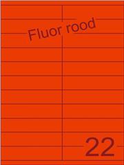 Etiket fluor rood 105x25,4mm (22) ds200vel A4