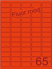Etiket fluor rood 38,1x21,2mm (65) ds100vel A4