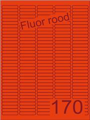 Etiket fluor rood 38,1x8mm (170) ds200vel A4